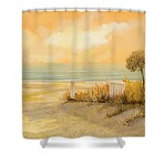 Verso La Spiaggia Shower Curtain by Guido Borelli