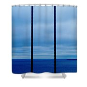 Vertical Cables Shower Curtain