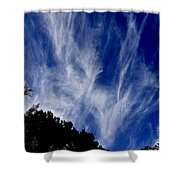 Vertical Clouds Shower Curtain