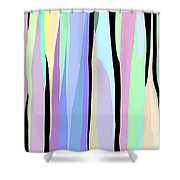Vertical Coloration Shower Curtain