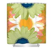 Vertical Daisy Collage II Shower Curtain