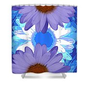Vertical Daisy Collage Shower Curtain