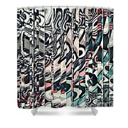 Vertical Graphic Layers Shower Curtain