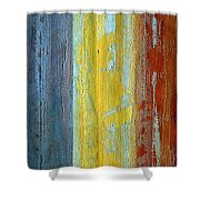 Vertical Interfusion II Shower Curtain