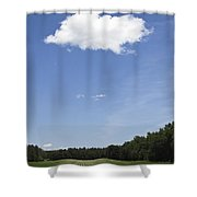 Vertical Landscape Shower Curtain