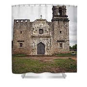 Vertical Mission Facade Shower Curtain