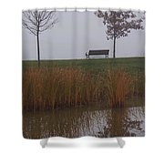 Vertical Reflection Shower Curtain