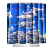 Vertical Sky Shower Curtain