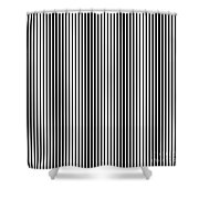 Vertical Stripes In Black And White Shower Curtain