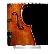 Vertical Violin Art Shower Curtain