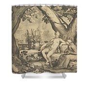 Vertumnus And Pomona Shower Curtain