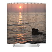 Verudela Beach At Sundown Shower Curtain