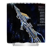 Very Big Space Shuttle Of Alien Civilization Shower Curtain