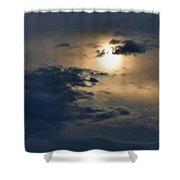 Very Hazy Sunset Shower Curtain