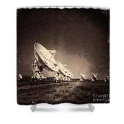 Very Large Array Sepia Shower Curtain