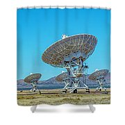 Very Large Array Side View Shower Curtain