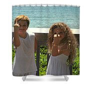 Very Naughty Angels Shower Curtain