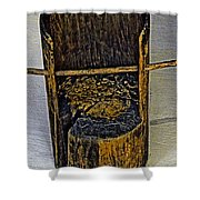 Very Very Ancient Chair For Kids. Shower Curtain
