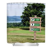Vesper Hills Golf Club Tully New York 1st Tee Signage Shower Curtain
