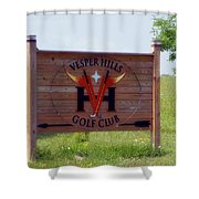 Vesper Hills Golf Club Tully New York Signage Shower Curtain