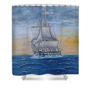 Vessel At Sea Shower Curtain