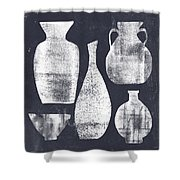 Vessel Sampler- Art By Linda Woods Shower Curtain