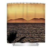 vest i Vlora. Sazan Island Shower Curtain