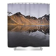 Vestrahorn Mountain In Stokksnes Iceland Shower Curtain