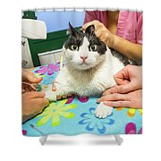 Vet Cannula Needle Injection Shower Curtain