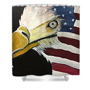 Veteran's Day Eagle Shower Curtain