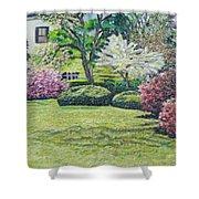 Veterans Park Blossoms Shower Curtain