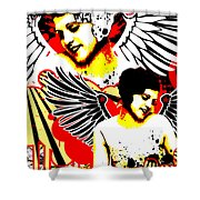 Vexed Angel Shower Curtain
