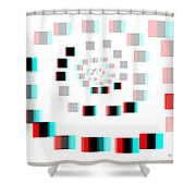 Vexer 2 - Use Red-cyan 3d Glasses Shower Curtain
