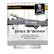 Vf-103 Jolly Rogers Shower Curtain