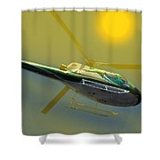 Vh Lee Flying In The Sun Shower Curtain