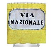 Via Nazionale Shower Curtain