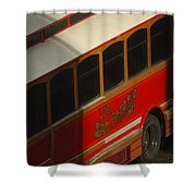 Via San Antonio Trolley Shower Curtain