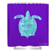 Vibrant Blue Sea Turtle Beach House Coastal Art Shower Curtain