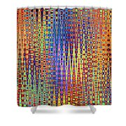 Vibrant Christmastree Forest Shower Curtain