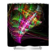 Vibrant Energy Swirls Shower Curtain
