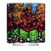 Vibrant Forest Shower Curtain