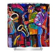 Vibrant Jazz Shower Curtain