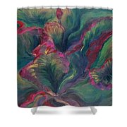 Vibrant Leaves Shower Curtain