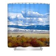 Vibrant Montana Shower Curtain