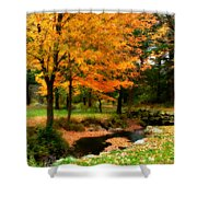Vibrant October Shower Curtain