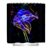 Vibrant Orchid Shower Curtain