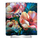 Vibrant Poppies Shower Curtain