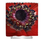Vibrant Red Shower Curtain