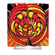 Vibrant Reds Shower Curtain