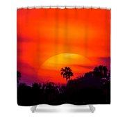 Vibrant Spring Sunset Shower Curtain
